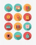 Uppsättning av plana symboler för rengöringsdukdesign stock illustrationer