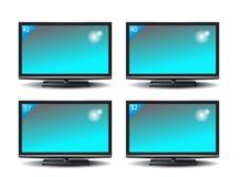 Uppsättning av plasmaTV Royaltyfria Foton