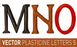 Uppsättning av plasticinebokstäver av det engelska alfabetet stock illustrationer