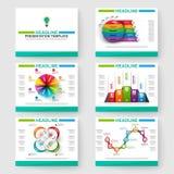 Uppsättning av presentationen som kan användas till mycket som är infographic för powerpoint Royaltyfria Foton