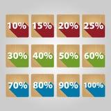 Uppsättning av procentsymboler Royaltyfria Foton