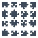Uppsättning av pusselstycken vektor illustrationer