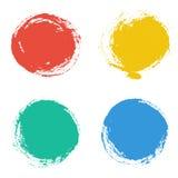 Uppsättning av ramar för vektorrundagrunge design tecknad elementhand Arkivfoto