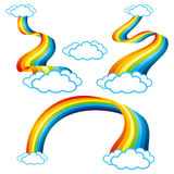 Uppsättning av regnbågen Arkivbild