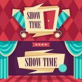 Uppsättning av reklamblad för show royaltyfri illustrationer
