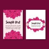 Uppsättning av reklamblad två med rosor Arkivfoto