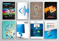 Uppsättning av reklambladdesignen, rengöringsdukmallar Broschyrdesigner Arkivfoto