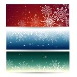 Uppsättning av rengöringsdukbaner med snöflingor också vektor för coreldrawillustration stock illustrationer