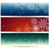 Uppsättning av rengöringsdukbaner med snöflingor också vektor för coreldrawillustration vektor illustrationer