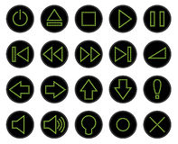 Uppsättning av rengöringsdukknappar, prickiga symboler royaltyfri illustrationer