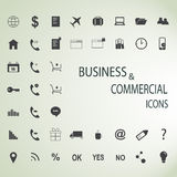 Uppsättning av rengöringsduksymboler för affär, finans och kommunikation Arkivbilder