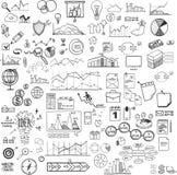 Uppsättning av rengöringsduksymboler för affären, finans och Fotografering för Bildbyråer