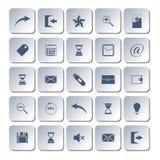 Uppsättning av rengöringsduksymboler, vektorillustration Fotografering för Bildbyråer