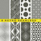 Uppsättning av retro geometriska modeller Tappningsrtyle Royaltyfri Foto