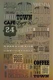 Uppsättning av Retro kaffe för tappning Arkivbild