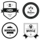 Uppsättning av retro logoer Arkivbild