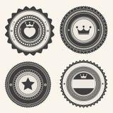 Uppsättning av retro tappningemblem och etiketter royaltyfri illustrationer
