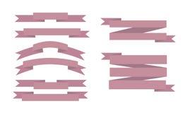 Uppsättning av rosa band Arkivfoton