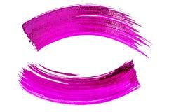 Uppsättning av rosa makeupsudd på vit isolatbakgrund royaltyfri bild