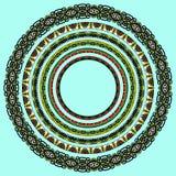 Uppsättning av runda geometriska ramar, cirkelgräns Royaltyfri Foto