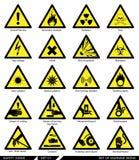 Uppsättning av säkerhetstecken Varningstecken stock illustrationer