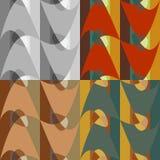 Uppsättning av sömlösa abstrakta modeller Arkivfoton