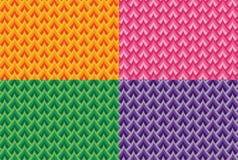 Uppsättning av sömlösa färgrika vektorvågmodeller stock illustrationer