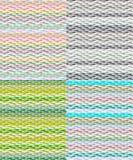 Uppsättning av sömlösa modeller med olika färgskuggor Arkivfoto