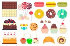 Uppsättning av söta matsymboler Fotografering för Bildbyråer