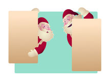 Uppsättning av Santa Clauses för julvektorillustration Arkivbild