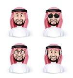 Uppsättning av saudiern för mått 3D - arabisk man Royaltyfri Fotografi