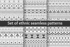 Uppsättning av sex etniska sömlösa modeller Arkivbild