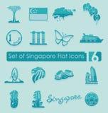 Uppsättning av Singapore symboler Royaltyfri Fotografi