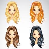Uppsättning av skönhetBabetta hår Royaltyfri Fotografi