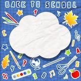 Uppsättning av skolabeståndsdelar med anförandebubblan Royaltyfria Foton