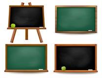 Uppsättning av skolförvaltningsvart tavla. Royaltyfria Foton