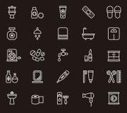 Uppsättning av släkta symboler för toalett Royaltyfria Bilder