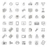 Uppsättning av smarta apparater och grejer, datorutrustning och elektronik royaltyfri illustrationer