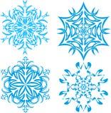 Uppsättning av snöflingor - 1 Royaltyfria Bilder