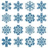 Uppsättning av snöflingor, vektorillustration Royaltyfri Foto