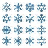 Uppsättning av snöflingor, vektorillustration Royaltyfria Bilder