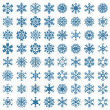 Uppsättning av snöflingor, vektorillustration Royaltyfria Foton