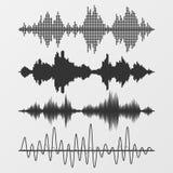 Uppsättning av solida vågor för vektor Fotografering för Bildbyråer