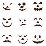 Uppsättning av spöklika lyktor för halloween stålarnolla vektor illustrationer