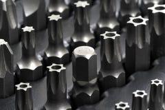 Uppsättning av spetsar för skruvmejslar Royaltyfri Fotografi