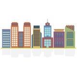 Uppsättning av stadsbyggnader royaltyfri illustrationer