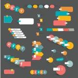 Uppsättning av steg-för-steg infographic beståndsdelar Arkivfoton