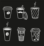 Uppsättning av stilfulla kaffekoppar Royaltyfri Illustrationer