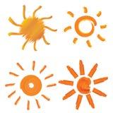 Sun designbeståndsdelar royaltyfri illustrationer