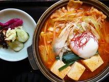 Uppsättning av sund japansk mat Royaltyfri Foto